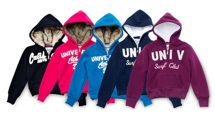 Girls' Fleece Hoodie with Faux Fur: Girls' Fleece Hoodie with Faux Fur. Multiple Styles Available. Free Returns.
