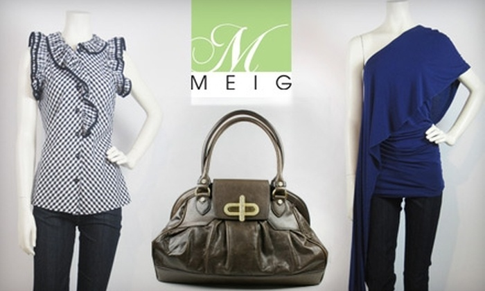 Meig - Perrysburg: $45 for $100 Worth of Designer Clothes, Jewelry, and More at Meig in Perrysburg