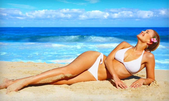Sunsera Salons - Multiple Locations: UV Tanning, UV-Free Mystic Tanning, or Red Light Therapy at Sunsera Salons (Up to 55% Off). Three Options Available.