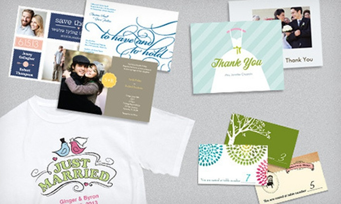 Vistaprint: $25 for $100 Worth of Custom-Printed Wedding Day Essentials, Invites, and More from Vistaprint