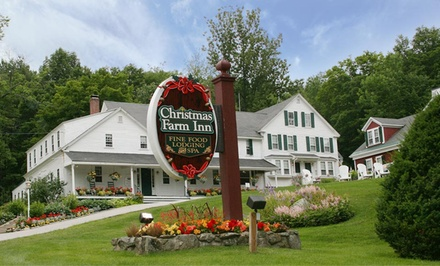 groupon daily deal - 1- or 2-Night Stay with Wine and Optional Dinner for Two at Christmas Farm Inn and Spa in Jackson, NH