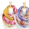 Two-Tone Colored Tie Dye Reversible Infinity Scarves