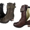 Comfy Moda Faux Shearling Lined Combat Boots