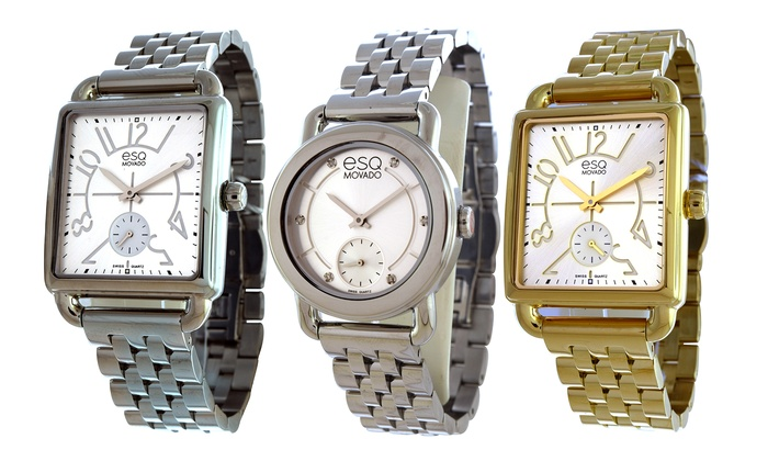 esq by movado women 39 s watches groupon goods. Black Bedroom Furniture Sets. Home Design Ideas