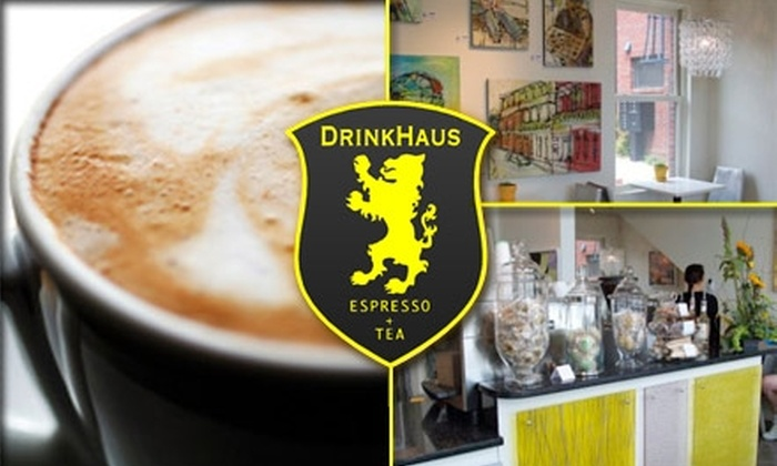 DrinkHaus  - Germantown: $15 for 20 Medium Cups of Coffee at DrinkHaus ($35 Value)