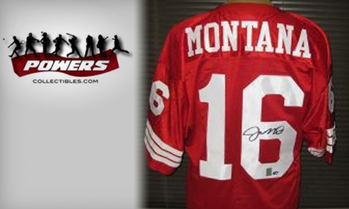 Powers Collectibles: $229 for One Joe Montana–Signed 49ers Jersey, Insured Shipping Included, from Powers Collectibles ($514 Value)