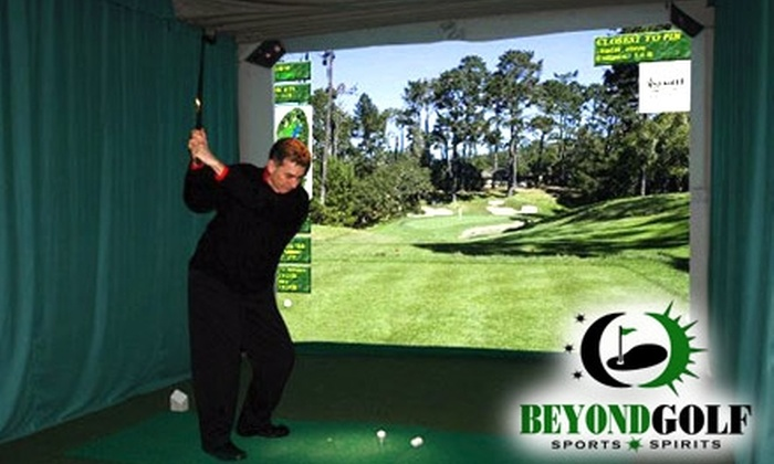 Beyond Golf Sports and Spirits - La Vista: $17 for One Hour of Golf Simulation at Beyond Golf Sports and Spirits ($35 Value)