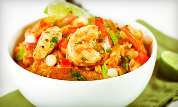 The Jambalaya Shoppe - Mid City South: Two Groupons, Each Good for $10 Worth of Cajun Cuisine at The Jambalaya Shoppe ($20 Total Value)