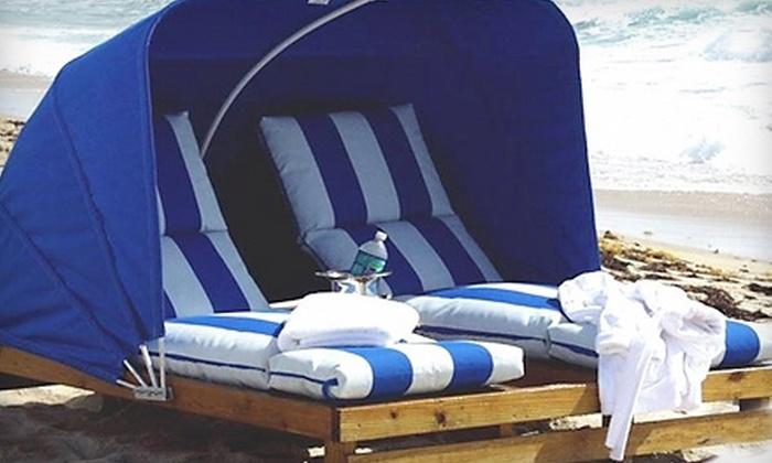 Bradford Beach Cabana Company - Milwaukee: Lounge Chair or Cabana Rental from Bradford Beach Cabana Company. Four Options Available.