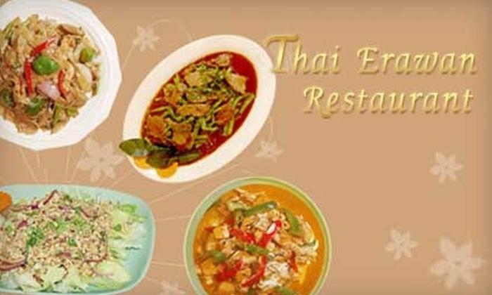 Thai Erawan Restaurant - Multiple Locations: $10 for $20 Worth of Authentic Thai Cuisine at Thai Erawan Restaurant. Choose Between Two Locations.