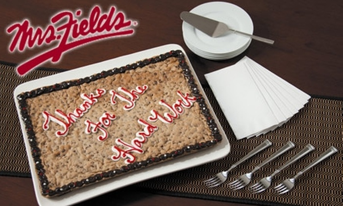 Mrs Fields - Loop: $22 for Half-Sheet Cookie-Cake from Mrs. Fields ($45 Value)