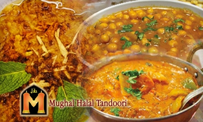 Mughal Halal Tandoori Restaurant and Banquet - Orange County: $10 for $20 Worth of Indian Cuisine and Drinks at Mughal Halal Tandoori Restaurant and Banquet in Anaheim