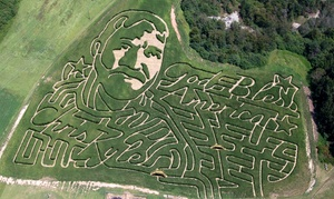Corn Dawgs Corn Maze: General Admission for Two or Four to Corn Mazes and Fall Attractions at Corn Dawgs Corn Maze (Up to 45% Off)