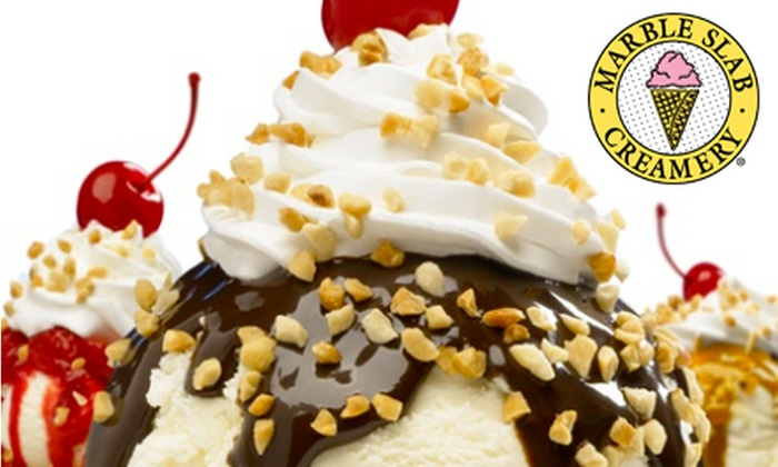 Marble Slab Creamery - Multiple Locations: $5 for $10 Worth of Frozen Treats at Marble Slab Creamery