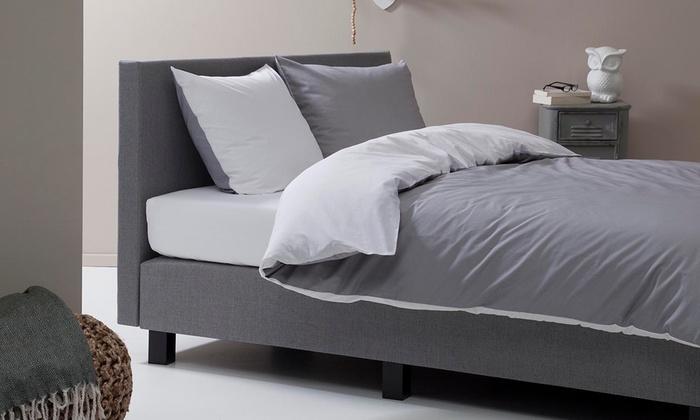 parure de lit percale de coton groupon shopping. Black Bedroom Furniture Sets. Home Design Ideas