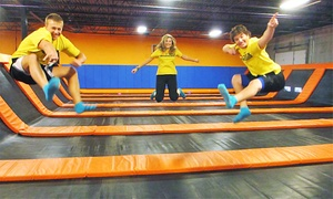 Up to 48% Off Trampoline-Park Jump Time at AirMaxx Trampoline Park, plus 6.0% Cash Back from Ebates.