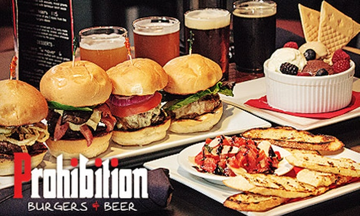 Prohibition Burgers & Beer - Encino: $27 for a Three-Course Burger Meal with Beer at Prohibition Burgers & Beer (Up to a $57 Value)