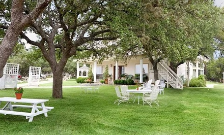 Groupon Deal: 2-Night Stay for Two with Romance Package at Serenity Farmhouse Inn in Texas Hill Country. Combine Up to 4 Nights.