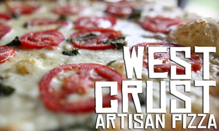 West Crust Artisan Pizza Pies - Lubbock: $6 for $12 Worth of Pizza and Drinks at West Crust Artisan Pizza Pies
