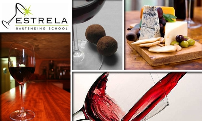 Estrela Bartending School - Washington Virginia Vale: $20 for Wine Class at Estrela Bartending School ($50 Value)