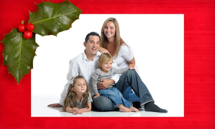 Flash House Studios - Green Island: In-Studio Holiday Photo-Shoot Package with a CD, Prints, and Option for Cards at Flash House Studios (Up to 71% Off)