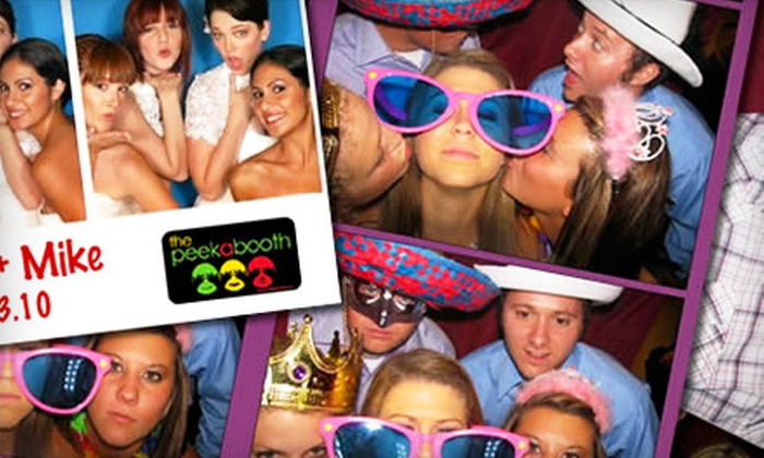 The PeekaBooth - Ventura County: $699 for a Four-Hour Photo-Booth Rental with a Prop Box from The PeekaBooth ($1,545 Value)