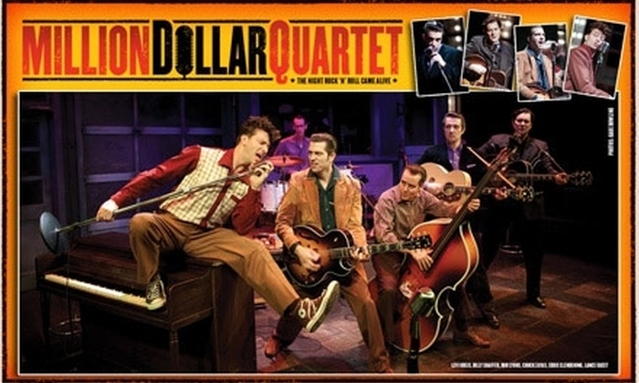 """Million Dollar Quartet - DePaul: $40 for One Ticket to """"Million Dollar Quartet"""" at Apollo Theater. Buy Here for 2/21/10 at 6:30 p.m. See Below for Additional Performances."""