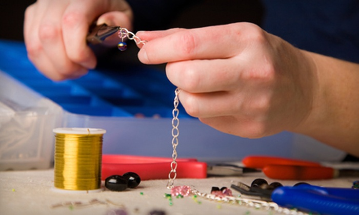 Beadplus - Albert Park: Earring-Techniques Class, Jewellery-Design Class, or Beginner Chainmaille Class at Beadplus (Half Off)