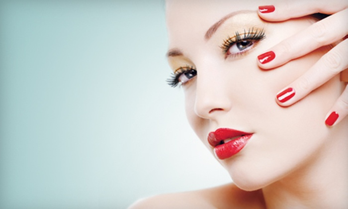 Currie Hair Skin & Nails - Multiple Locations: $22 for a Shellac Nail Manicure (a $45 Value) at Currie Hair Skin & Nails. Four Locations Available