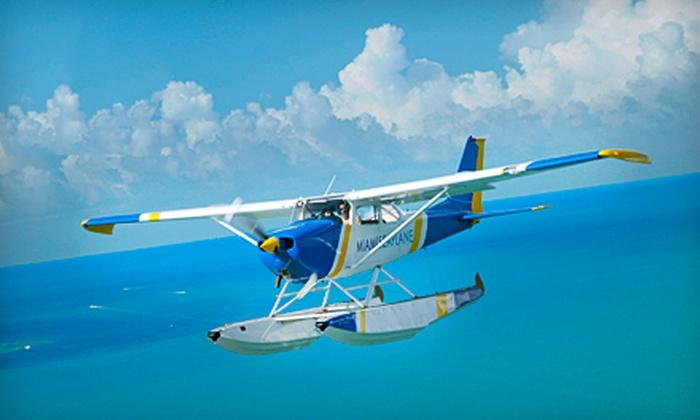 Miami Seaplane Tours - Virginia Key: $75 for a 30-Minute Skyline Seaplane Tour from Miami Seaplane Tours in Key Biscayne ($150 Value)