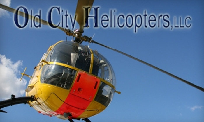 Old City Helicopters - St. Augustine: $149 Helicopter Tour for up to Three People from Old City Helicopters (Up to a $255 Value)