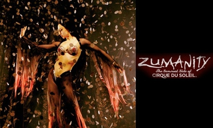 "Cirque Du Soleil - Las Vegas - Las Vegas: $58 for One Upper-Orchestra Ticket to ""Zumanity, the Sensual Side of Cirque du Soleil"" (Up to $94.90 Value). Buy Here for Sunday, April 25, at 10:30 p.m. See Below for Additional Dates and Seating."