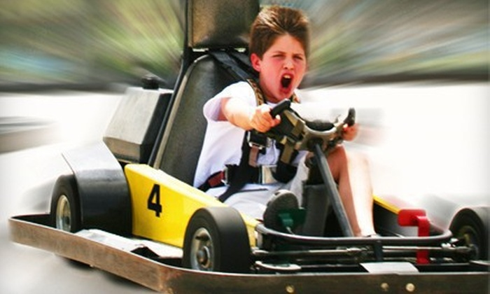 Zone Action Park - Lewisville: Three Hours of Unlimited Go-Karting and Mini Golf for Two, Four, or Six or Birthday Bash for up to 16 Children at Zone Action Park in Lewisville (Up to 54% Off)