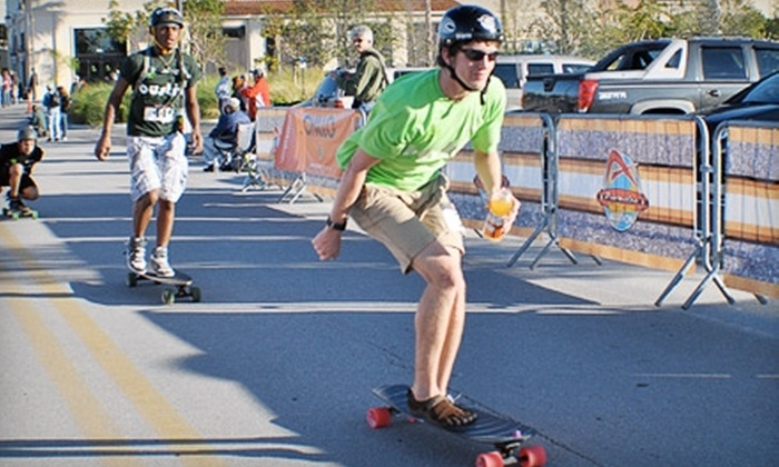 Adrenalina Skateboard Marathon - New York: Entry in Adrenalina Skateboard Marathon Race on Governors Island on Saturday, July 30. Two Options Available.