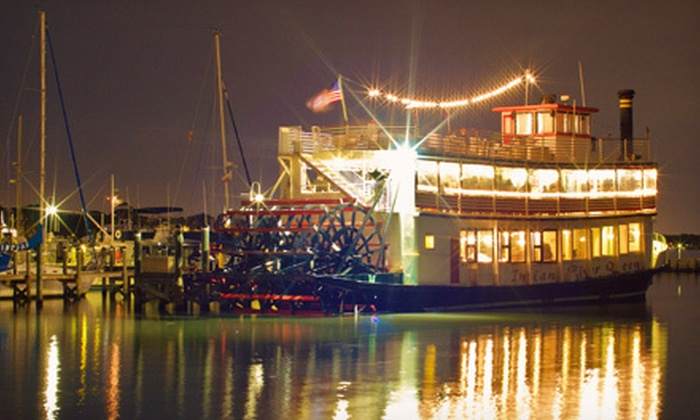 """Indian River Queen - Cocoa Beach: $145 for a Couples' Dinner Cruise Aboard the """"Indian River Queen"""" ($250 Value)"""