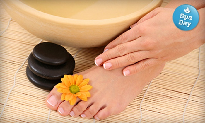 Salon Yetmir - Gardiners: $49 for a Hot-Stone Mani-Pedi at Salon Yetmir