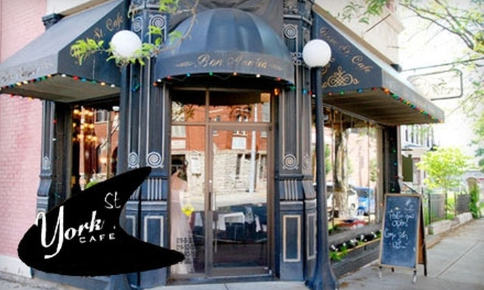 York Street Café - Newport: $25 for $50 Worth of Fare and Drink at York Street Cafe