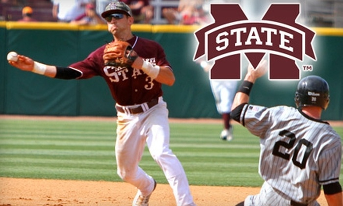 Mississippi State Bulldogs Baseball - Starkville: $10 for Four General Admission Tickets to a Mississippi State Bulldogs Baseball Game (a $20 Value). Four Dates Available.