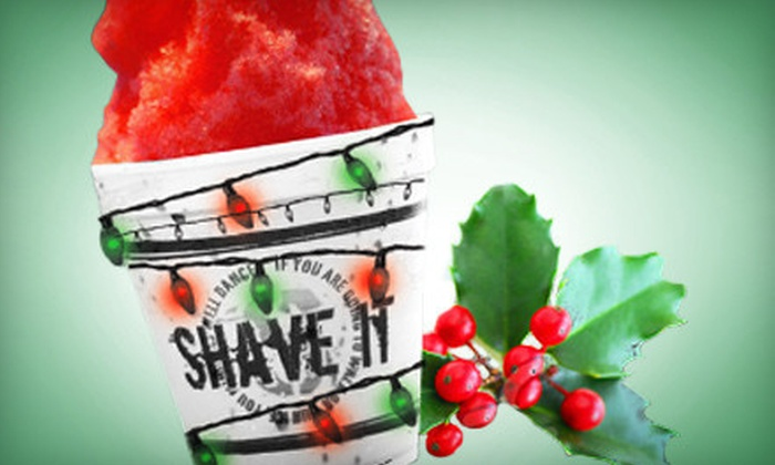 Shave It - Multiple Locations: Shaved Ice Gift Card at Shave It (Up to 60% Off). Two Options Available.