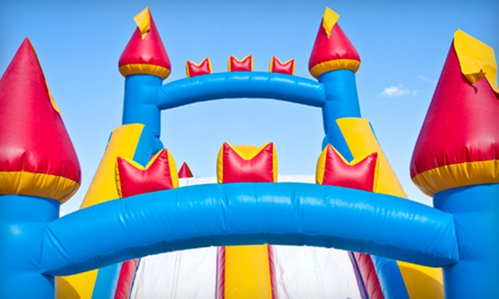 Bounce Rentals Party Supply Store - Bush Hills: Concession Machine, Standard Bounce House, Party Package, or Obstacle Course Rental from Bounce Rentals Party Supply Store
