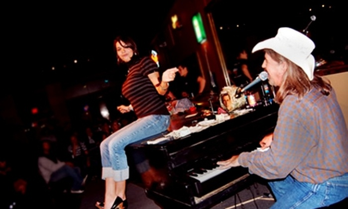 Louie Louie's Dueling Piano Bar - Arlington: $9 for Admission for Two and One Large Pizza at Louie Louie's Dueling Piano Bar in Arlington (Up to $22 Value)