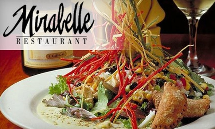 Mirabelle Restaurant - Spicewood Office Park: $15 for $30 Worth of Flavorsome Contemporary American Fare at Mirabelle Restaurant