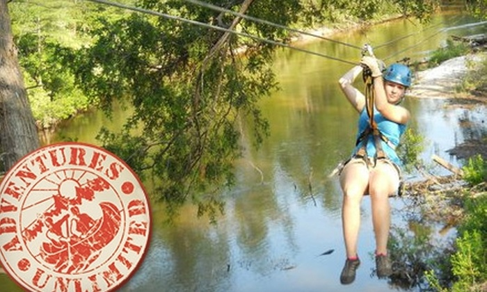 Adventures Unlimited - Munson-McLellen: $63 for Zip Line Tour Through Blackwater River State Forest from Adventures Unlimited ($129 Value)