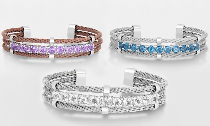 Genuine Gemstone Bangle Bracelets in Sterling Silver and Stainless Steel: Genuine Gemstone Bangle Bracelets in Sterling Silver and Stainless Steel. Multiple Styles Available. Free Returns.