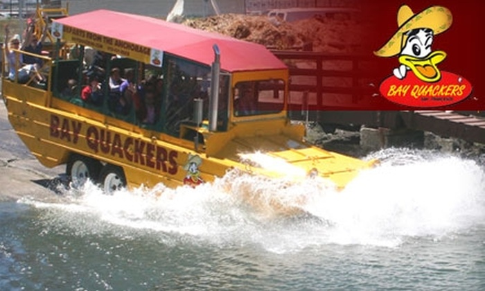 Bay Quackers - Fisherman's Wharf: $17 Duck Tour with Bay Quackers (Up to $35 Value)