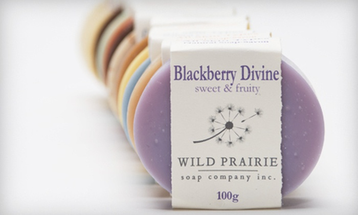 Wild Prairie Soap Company - Garneau: $12 for $24 Worth of Handcrafted Soaps and Natural Bath and Body Products at Wild Prairie Soap Company