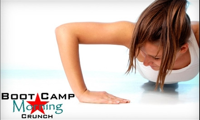 Boot Camp Morning Crunch - Multiple Locations: $45 for Five Boot-Camp Classes at Boot Camp Morning Crunch ($95 Value)