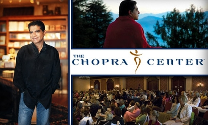 """The Chopra Center - Carlsbad: $250 for """"A Weekend Within"""" Yoga and Meditation Workshop at the Chopra Center ($775 Value)"""