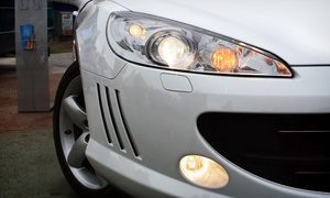 G-Tech & Wet Less Car Polishing LLC: Headlight Polish and Protective Film (AED 199), Racing Stripes (AED 249), or Both (AED 429) at G-Tech(Up to 69% Off)