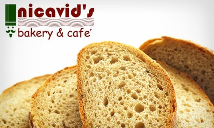 Nicavid's Bakery - Northwest Side: $7 for $15 Worth of Bakery Goods and Sandwiches at Nicavid's Bakery & Cafe